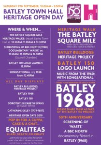 Batley 150 at Batley Town Hall programme