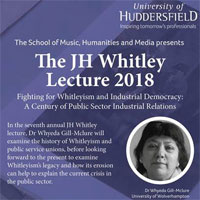 JH Whitley Lecture 2018