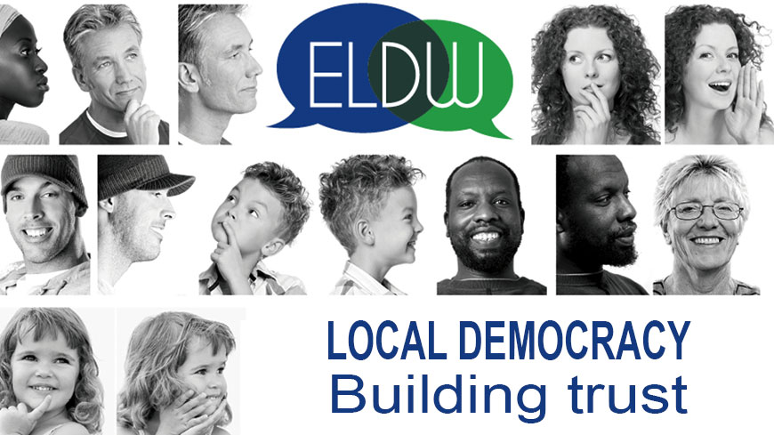 Citizens talking about local democracy