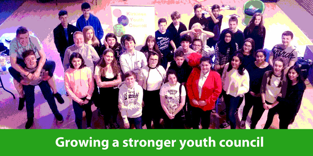 group of Kirklees youth councillors