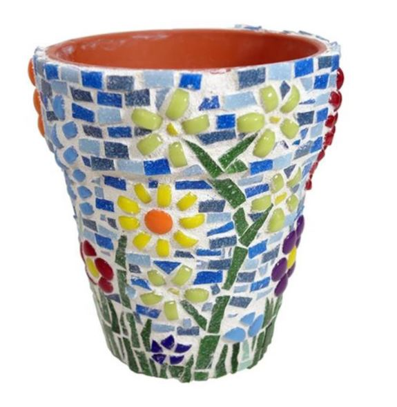 Decorated plant pot